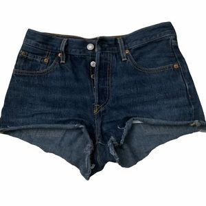 Levi 501 cutoff shorts.